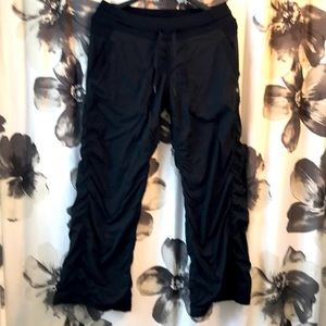 GUC black lined Lulu dance studio pants, 10